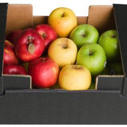 Cesta de manzanas variadas: Fuji, Golden y Starking
